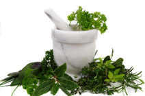conditions treated naturopathic medicine-herbs with pestle